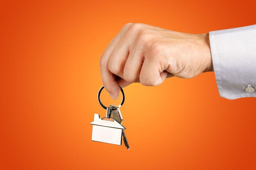 Man hand holding keys